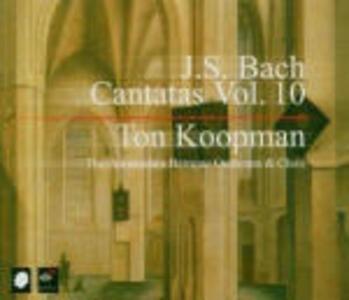 Cantate vol.10 - CD Audio di Johann Sebastian Bach,Ton Koopman,Amsterdam Baroque Orchestra