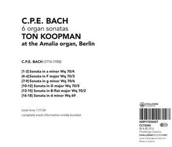 6 Organ Sonatas - CD Audio di Carl Philipp Emanuel Bach - 2