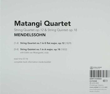 Quartet op.12 - Quintet op - CD Audio di Felix Mendelssohn-Bartholdy - 2