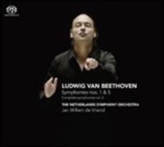 Sinfonie n.1, n.5 - SuperAudio CD ibrido di Ludwig van Beethoven,Netherlands Symphony Orchestra,Jan Willem de Vriend