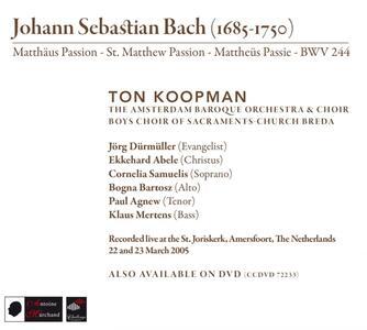 Matthaus Passion - CD Audio di Johann Sebastian Bach - 2