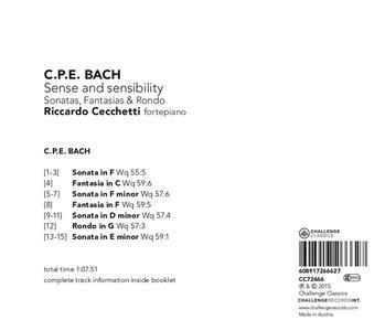 Sense and Sensibility - CD Audio di Carl Philipp Emanuel Bach - 2