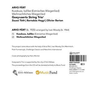 Kusskuss, Kallike - Weihnac - CD Audio Singolo di Arvo Pärt - 2