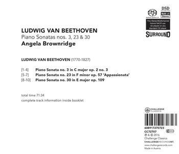 Piano Sonatas No.3, 23 & 3 - SuperAudio CD di Angela Brownridge - 2