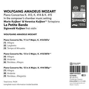 Concerti per Pianoforte - SuperAudio CD di Wolfgang Amadeus Mozart - 3