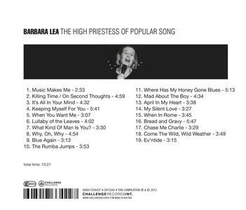 The High Priestess of Popular Song - CD Audio di Barbara Lea - 2