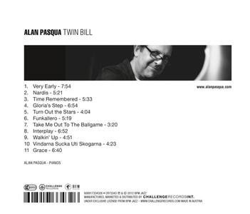Twin Bill - CD Audio di Alan Pasqua - 2