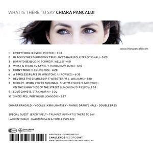 What Is There To Say - CD Audio di Chiara Pancaldi - 2