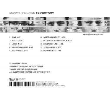 Known-Unknown - CD Audio di Trichotomy - 2