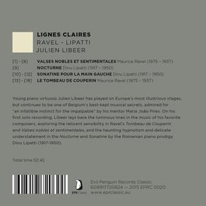 Lignes Claires - CD Audio di Julien Libeer - 2