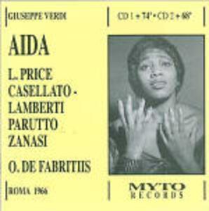 Aida - CD Audio di Giuseppe Verdi,Leontyne Price,Orchestra del Teatro dell'Opera di Roma,Oliviero De Fabritiis