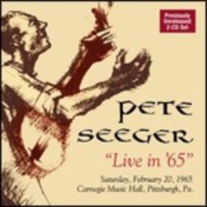 Live in 65' - CD Audio di Pete Seeger