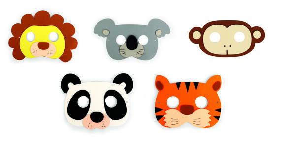Jungle Party Mask. Set da 5 - 2