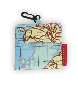 Idee regalo Borsa da Viaggio. Map. Travel Laundry Bag Kikkerland