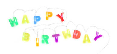 Idee regalo Happy Birthday Lights Kikkerland