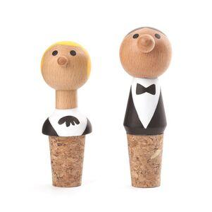 Idee regalo Tappo di sughero Wine Stopper Waiters. Set 2 Kikkerland
