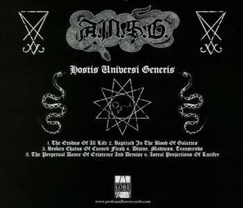 Hostis Universi Generis - CD Audio di AMSG - 2