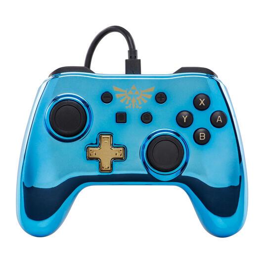 PowerA Legend of Zelda Gamepad Nintendo Switch Analogico/Digitale USB Blu, Oro