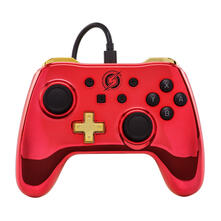 PowerA Samus Gamepad Nintendo Switch Analogico/Digitale USB Rosso, Giallo
