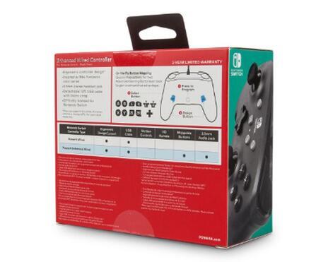 PowerA Black Frost Gamepad Nintendo Switch Analogico/Digitale USB Nero - 2