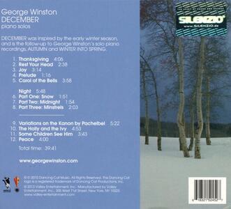 December - CD Audio di George Winston - 2