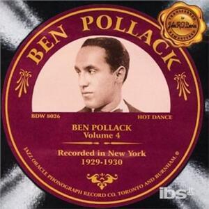 Ben Pollack vol.4 - CD Audio di Ben Pollack