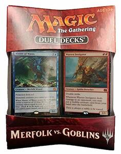 Magic the Gathering. Duel Decks. Merfolk vs Goblins Display 6 Decks . EN