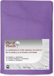 Lenzuolo Con Angoli In Flanella Fior Di Flanella Lilla Viola 2 Piazze