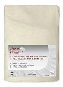 Lenzuolo Con Angoli In Flanella Panna Fior Di Flanella 2 Piazze