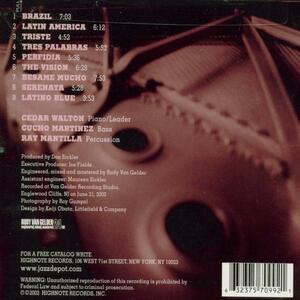 Latin Tinge - CD Audio di Cedar Walton - 2