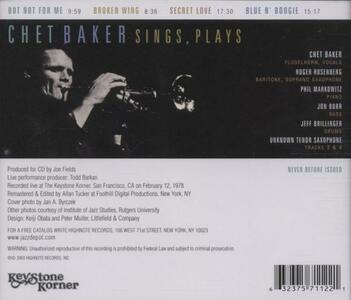 Live at the Keystone Korner - CD Audio di Chet Baker - 2