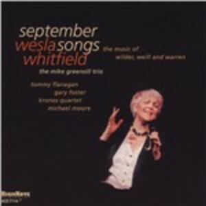 September Songs - CD Audio di Wesla Whitfield