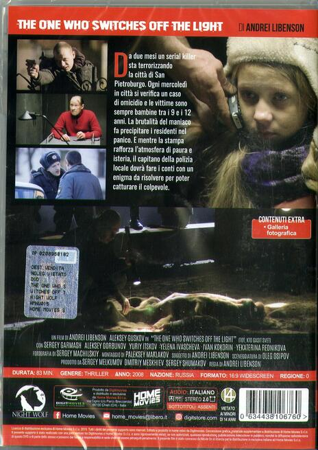 The One Who Switches Off the Light. Il Killer di San Pietroburgo (DVD) di Andrei Libenson - DVD - 2