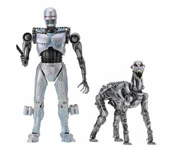 RoboCop vs The Terminator Action Figure 2-Pack EndoCop & Terminator Dog 18 cm - 2
