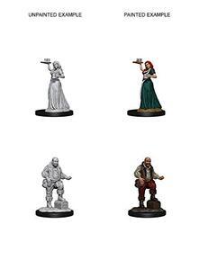 Pathfinder. Deep Cuts Miniatures. Merchants (serving girl, merchant)