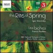 La sagra della primavera (Le Sacre du Printemps) / Le cerbiatte - CD Audio di Francis Poulenc,Igor Stravinsky,BBC National Orchestra of Wales,Thierry Fischer
