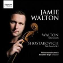 Concerti per violoncello - CD Audio di Dmitri Shostakovich,William Walton,Philharmonia Orchestra,Jamie Walton,Alexander Briger