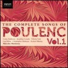 Liriche complete vol.1 - CD Audio di Francis Poulenc