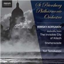La città invisibile di Kitezh - Sheherazade - CD Audio di Nikolai Rimsky-Korsakov,Yuri Temirkanov