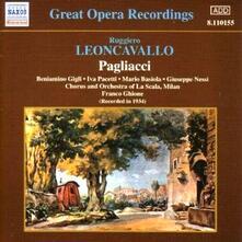 Pagliacci - CD Audio di Beniamino Gigli,Ruggero Leoncavallo,Franco Ghione,Orchestra del Teatro alla Scala di Milano