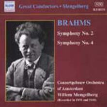 Sinfonie n.2, n.4 - CD Audio di Johannes Brahms,Royal Concertgebouw Orchestra,Willem Mengelberg