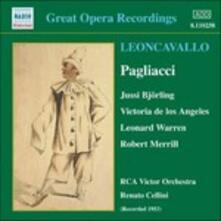 Pagliacci - CD Audio di Ruggero Leoncavallo,Jussi Björling,Victoria De Los Angeles,Renato Cellini,RCA Victor Symphony Orchestra