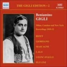 Gigli Edition vol.2 - CD Audio di Beniamino Gigli