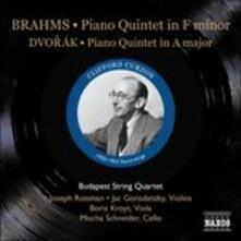 Quintetto con pianoforte op.34 / Quintetto con pianoforte op.81 - CD Audio di Johannes Brahms,Antonin Dvorak,Clifford Curzon,Budapest String Quartet