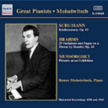 Great Pianists - CD Audio di Johannes Brahms,Modest Petrovich Mussorgsky,Robert Schumann,Benno Moisejwitsch