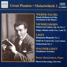 Great Pianists vol.2 - CD Audio di Benno Moisejwitsch