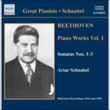 Opere per pianoforte vol.1 - CD Audio di Ludwig van Beethoven,Artur Schnabel