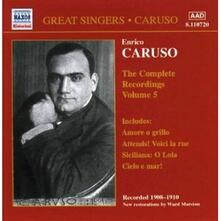 Integrale delle registrazioni vol.5 - CD Audio di Enrico Caruso