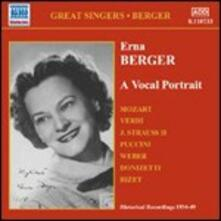 A Vocal Portrait - CD Audio di Erna Berger