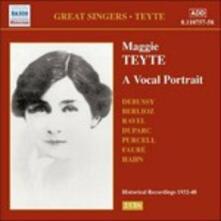 A Vocal Portrait - CD Audio di Maggie Teyte